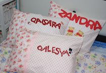 LittleGirl Pillows wit name applique