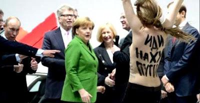protestas del grupo FEMEN en Alemania contra Putin