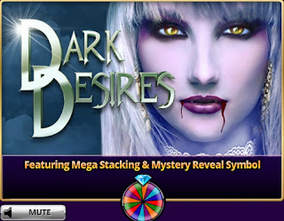 Loading screen for Dark Desires from Hit It Rich! Casino Slots