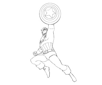 #3 Captain America Coloring Page