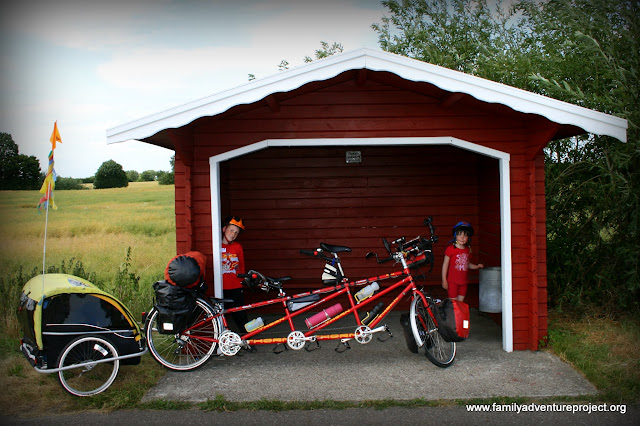 Bikes in Bus Stop Denmark