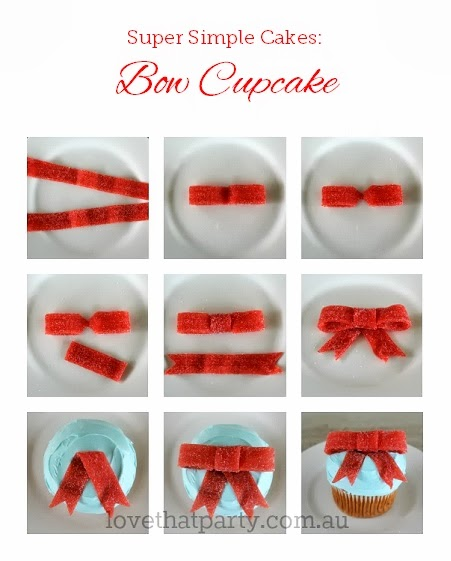 birthday cake, simple cake, bow cupcake, easy cake, how to cake, tutorial