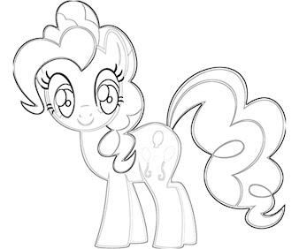 #8 Pinkie Pie Coloring Page