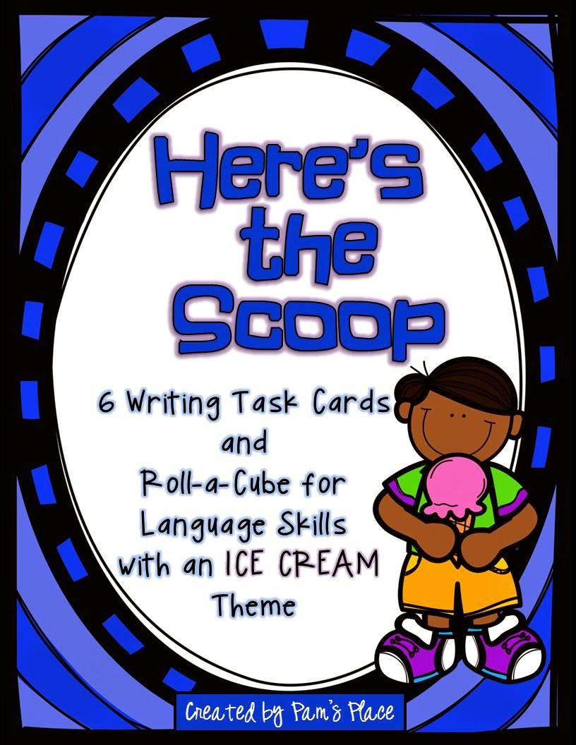 http://www.teacherspayteachers.com/Product/Writing-Task-Cards-Roll-a-Cube-for-Language-Skills-Ice-Cream-Theme-1270352
