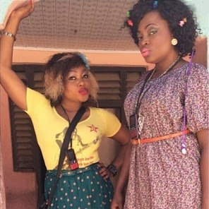 ruth kadiri funke akindele on movie set