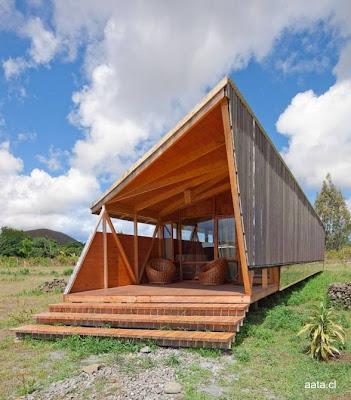 Cabaña de madera y chapas ecológica en Chile