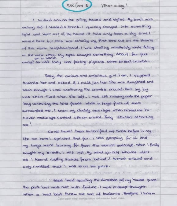 descriptive essay as a form of continuous writing Paper 1 section b : continuous writing [50 marks] [time suggested : one hour]   5 what is the best way for teenagers to stay fit and healthy  descriptive.