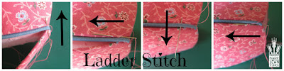 Ladder Stitch-Pumpkin with Piping