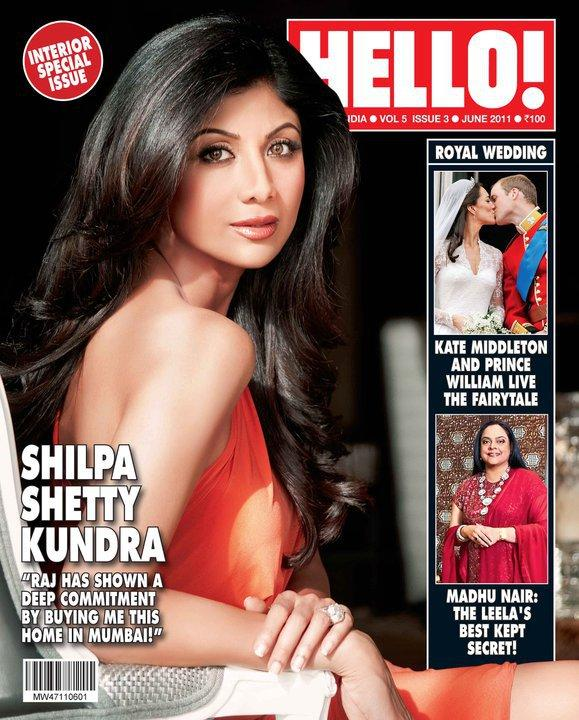 Shilpa Shetty - Shilpa Shetty On Hello India Magazine Cover June 2011 Edition