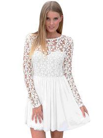 Mini dress pesta lengan panjang