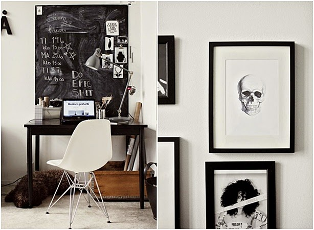 white fashion office decor