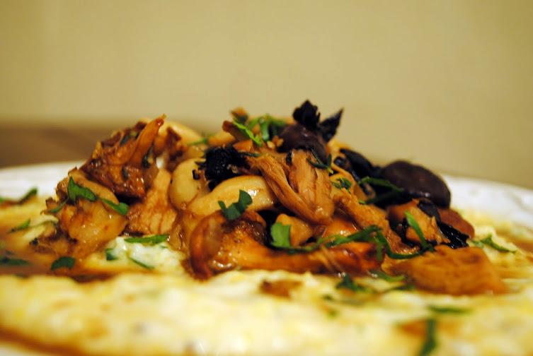 Chicken and Wild Mushroom Marsala over Parmesan-Herb Polenta