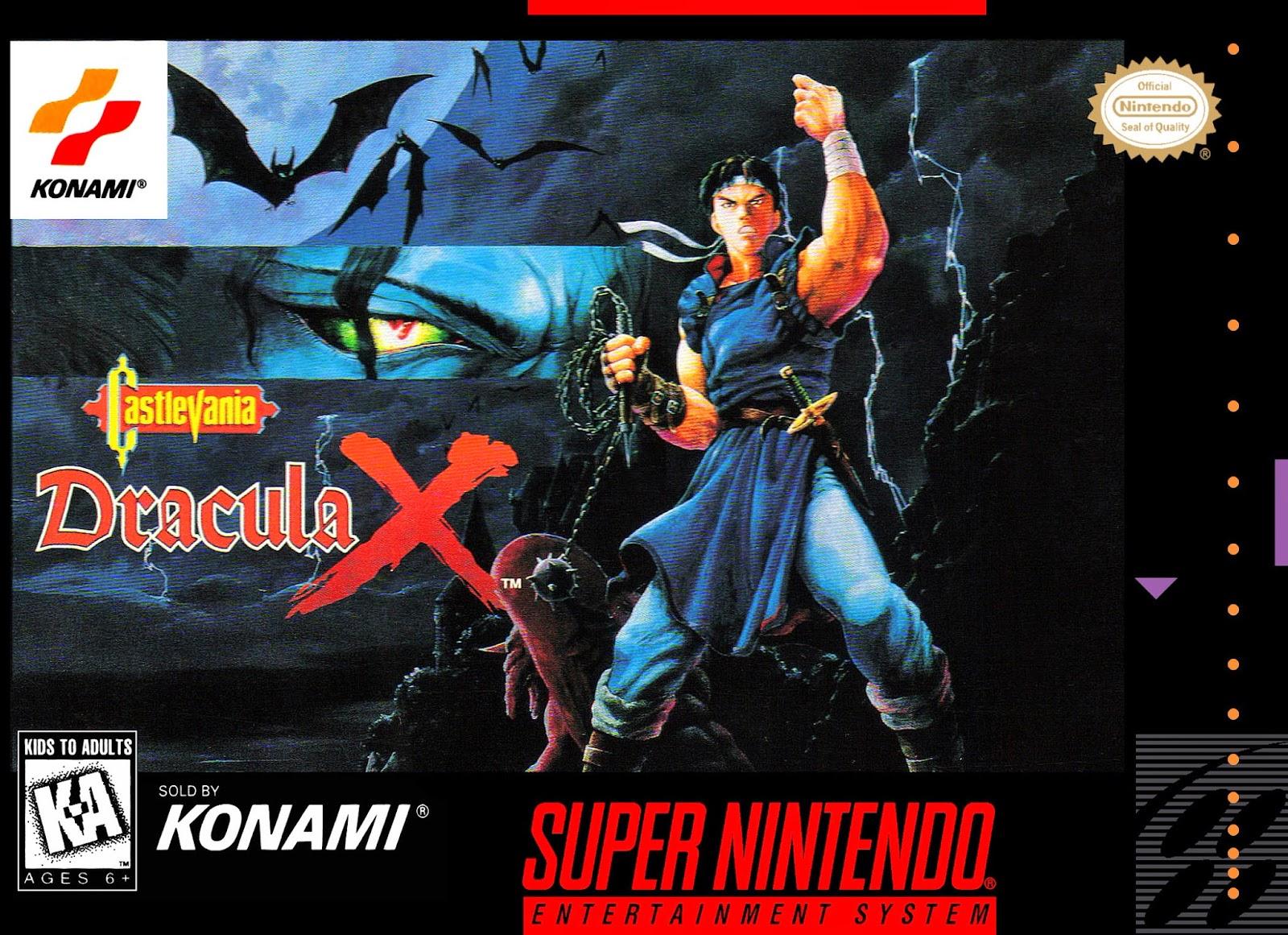 Castlevania Dracula X snes rom cover