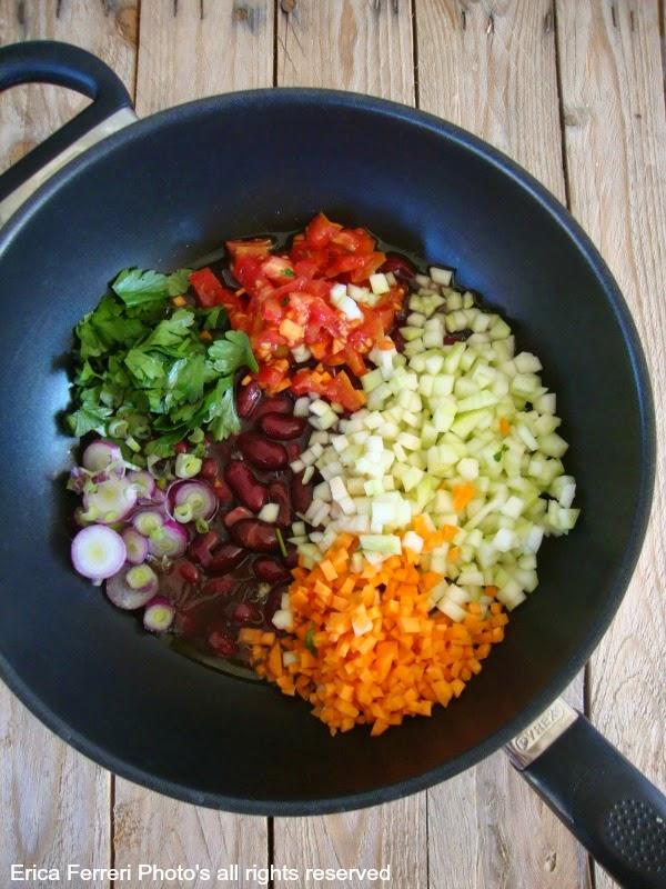 Ricetta Zuppa di farro spezzato con fagioli rossi e cucuzza siciliana
