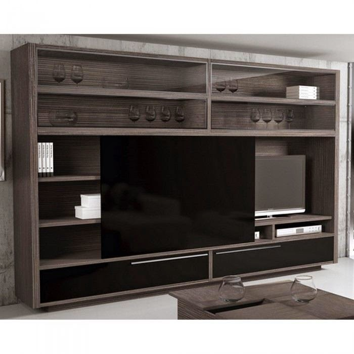 Meuble tv avec porte coulissante meuble tv for Porte vitree pour meuble