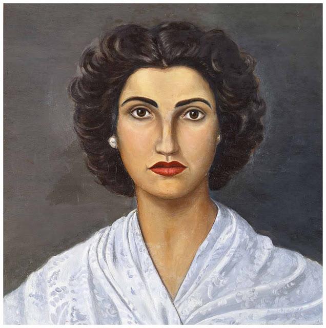 EL arte y las pinturas del caudillo Francisco Franco. Otro retrato de Carmen, su hija.