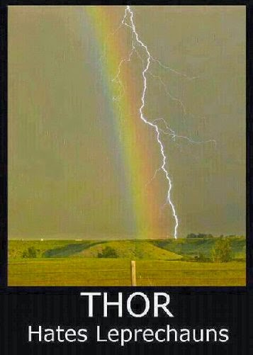 proof that Thor hates leprechauns - funny photo