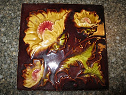 Majolica Tile - Yellow Floral
