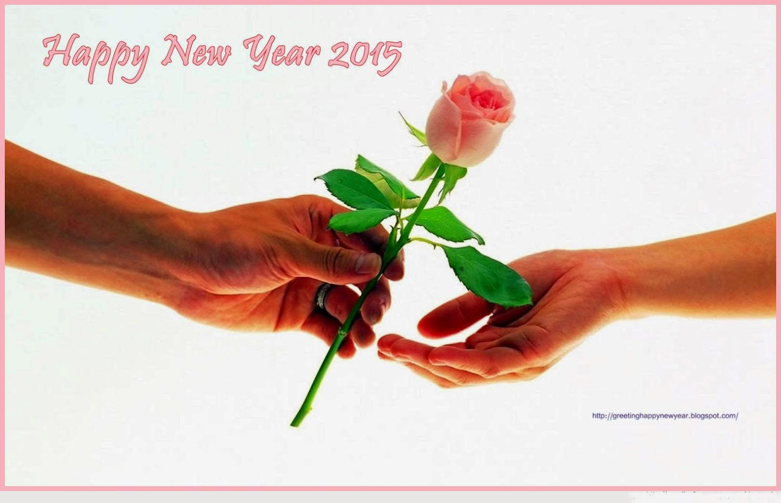 Happy New Year 2015 Roses Wishing Cards