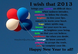 Happy New Year and the Official 2013 Blogging Update