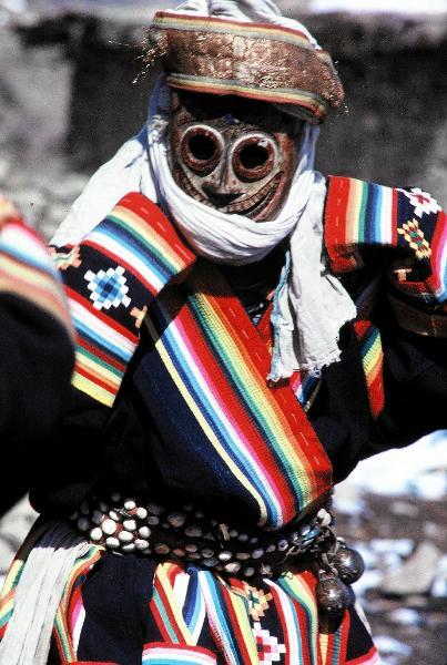 Humla mani mask dancer