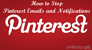 pinterest email notifactions