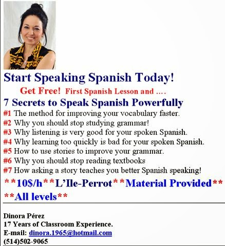 Free Spanish Lesson In L 39 Ile Perrot