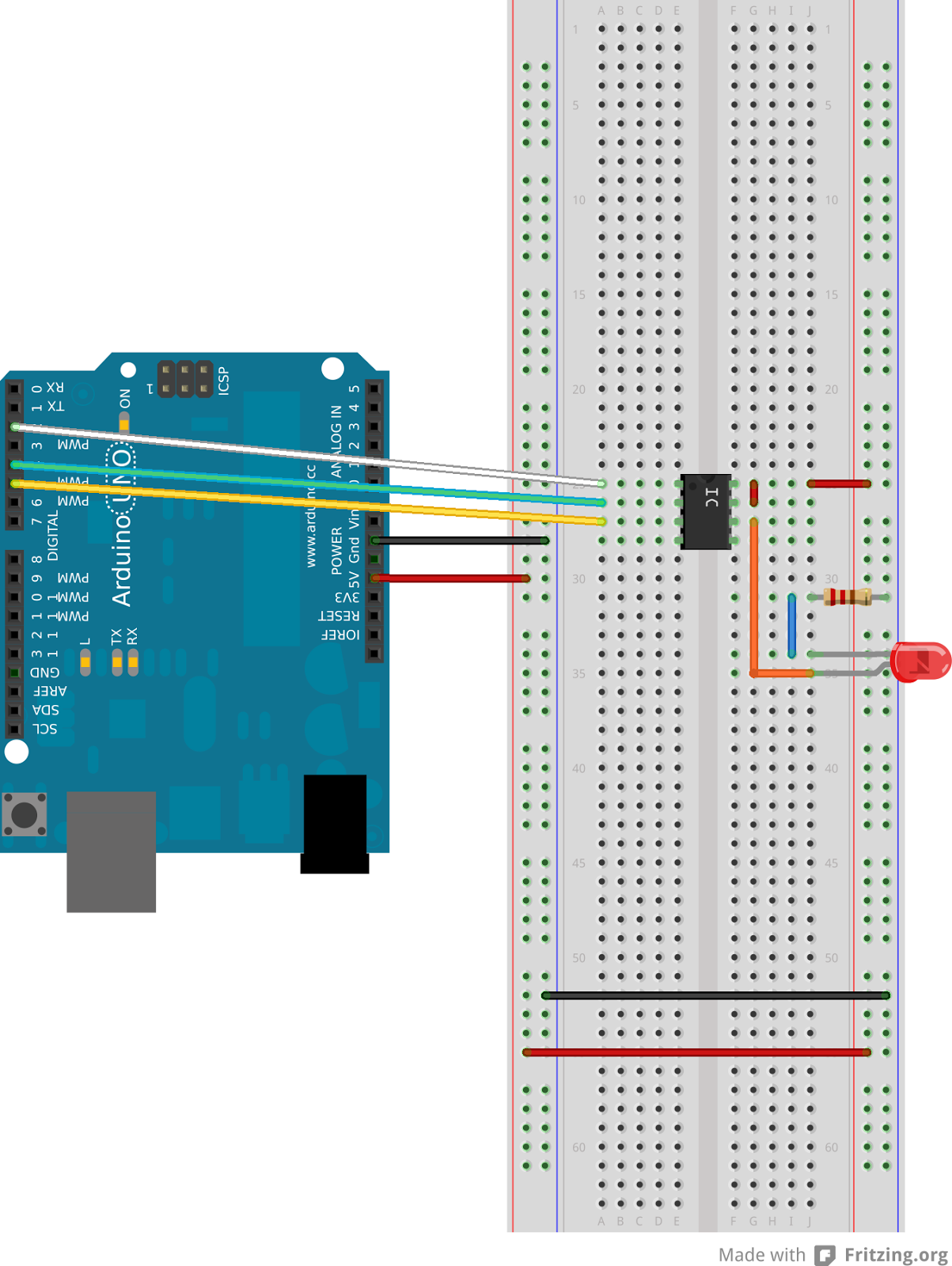 Techrm How To Control A Digital Potentiometer Using Arduino Uno Amplifier With The Controlled By Circuit Schematic Fritzing