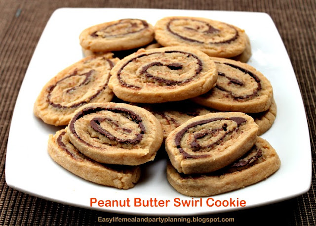 Peanut Butter Swirl Cookies - Easy Life Meal & Party Planning If you like peanut butter and chocolate combined then you are going to love these cookies!