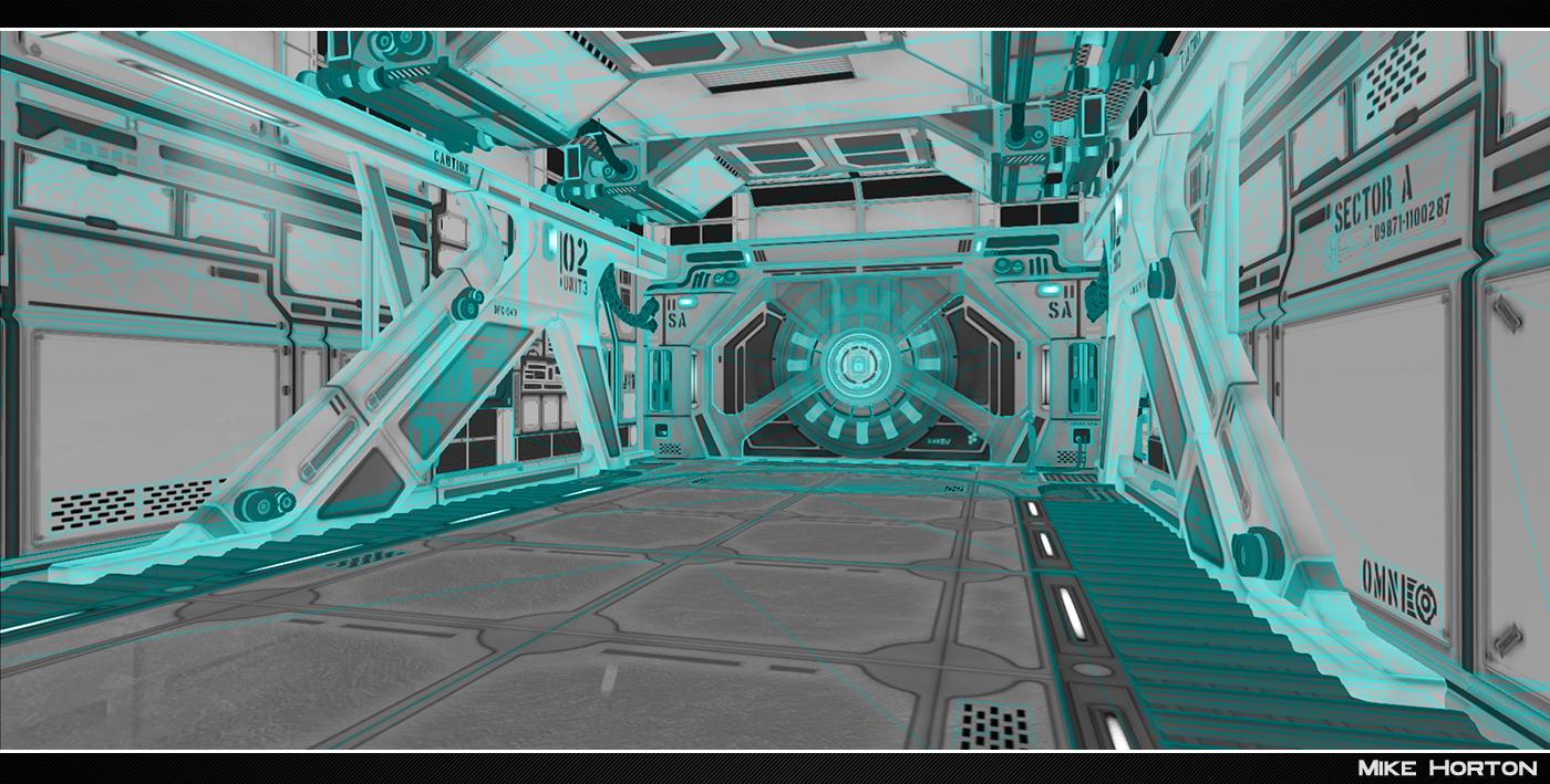 Mike Horton: Sci-Fi Hallway