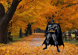 Batman Free Wallpapers Dark Knight Ready to Fight in Classic Autumn Trees background