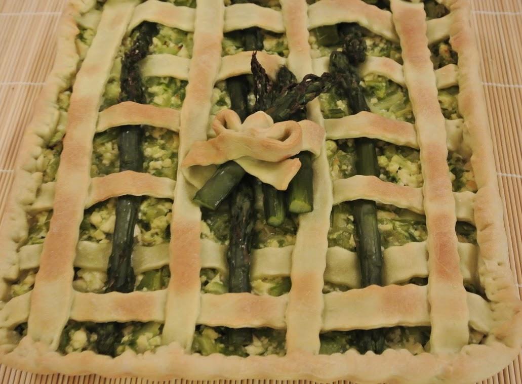 torta rustica asparagi e tofu