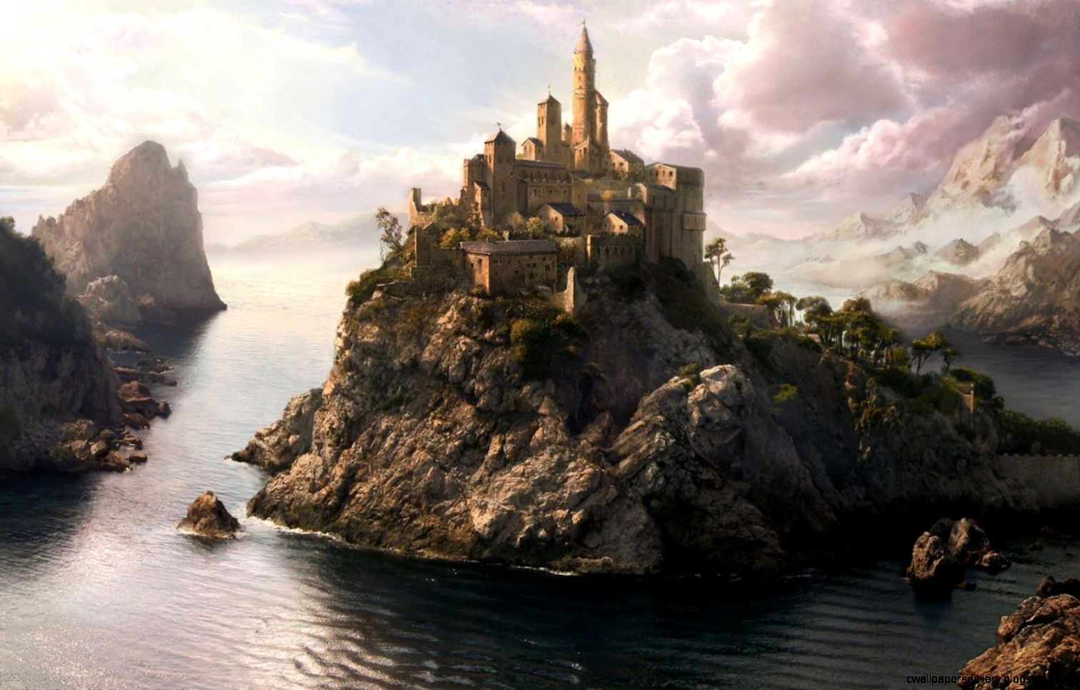 3D Landscape Fantasy Art Scenery desktop wallpaper nr 47786