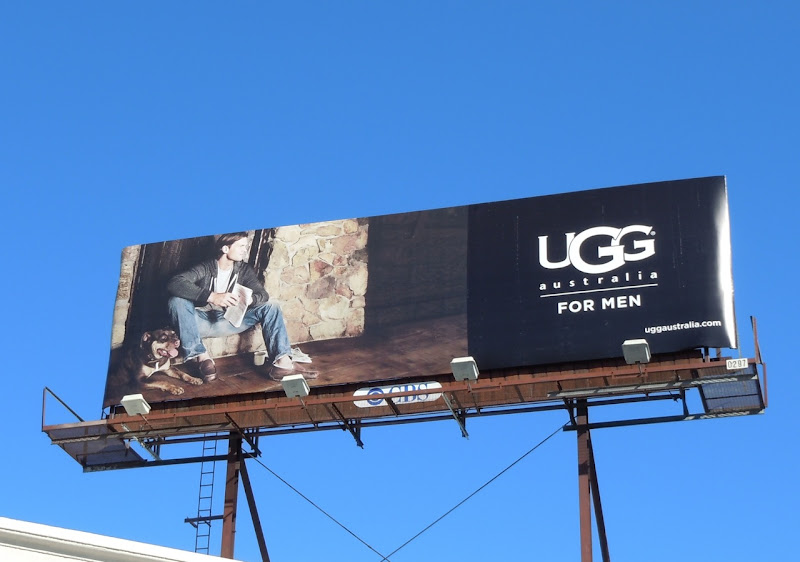 UGG Men dog and slippers billboard