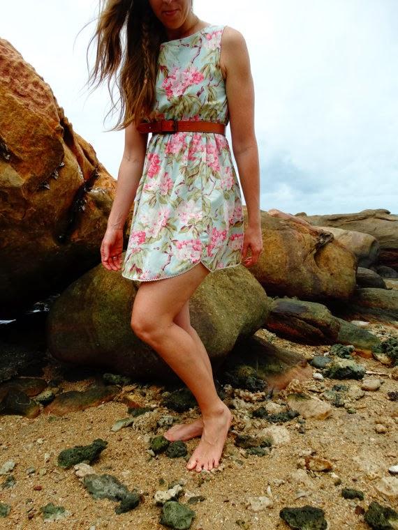 Hunnah-Lea Tea Dress Vintage Fabric