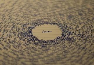 Love Text on a Old Paper Wallpaper
