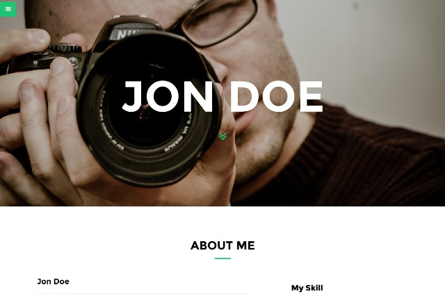 FCV – Clean & Responsive Resume and Portfolio Template