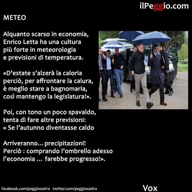 Enrico Letta Twitter: Il Peggio: METEO, Poesia Per Enrico Letta