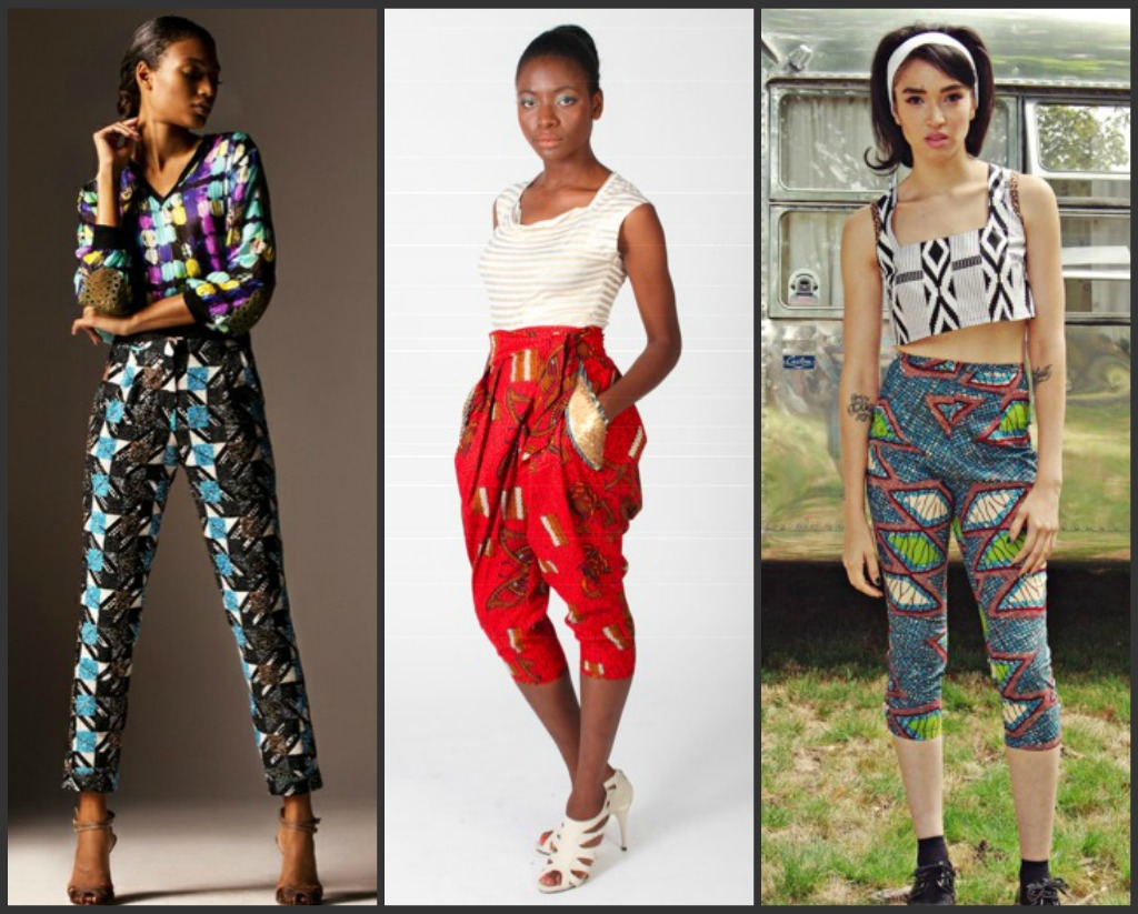 afrika na mitindo: Collage Pants in African Prints
