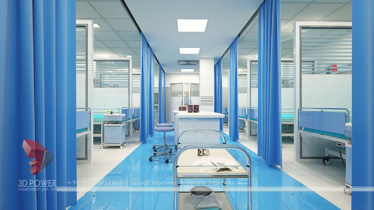Modern hospital architecture hospital healthcare for Architecture interieur design