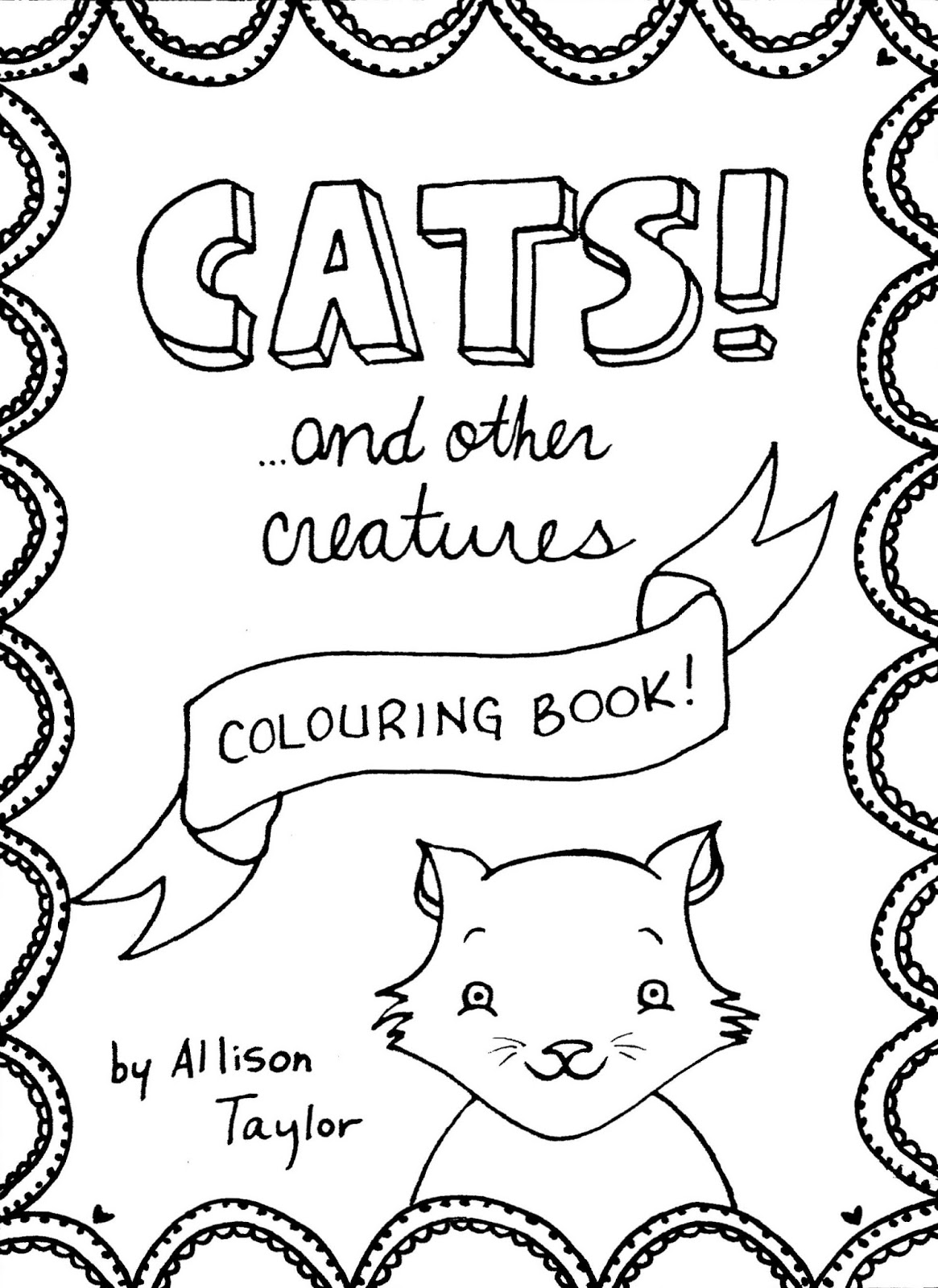 Cats And Other Creatures Ink On Paper 4 X 5Allison Taylor Limited Edition Of 10