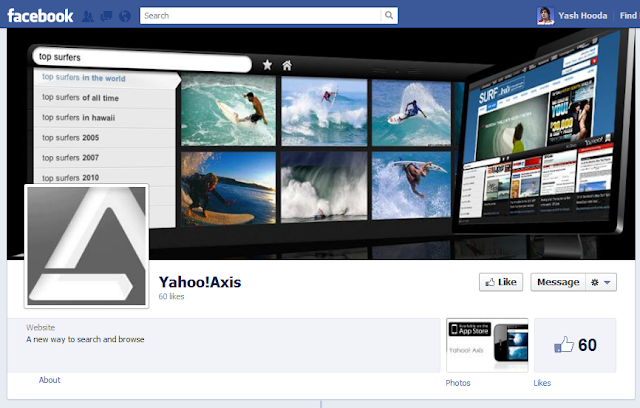 Yahoo Axis Facebook Page