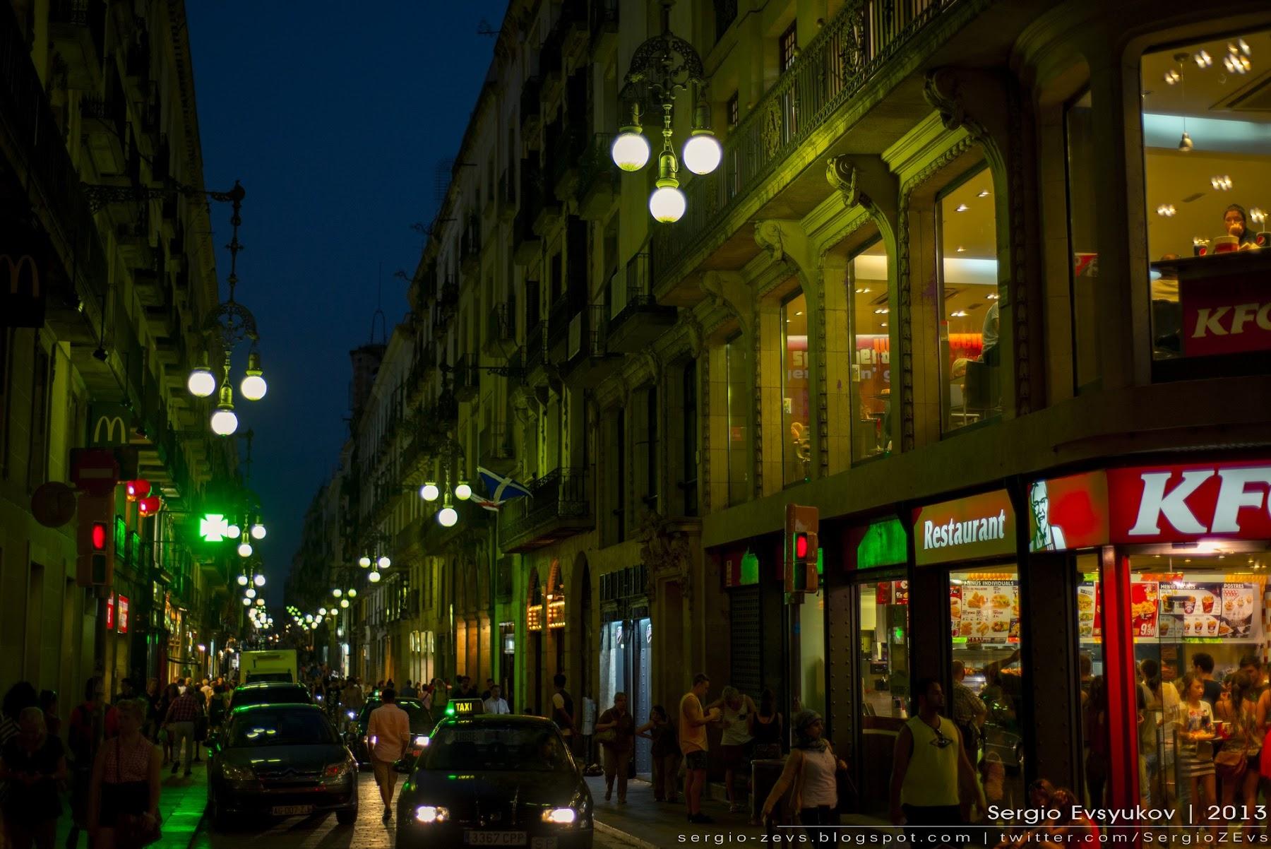 Barcelona's heart at night