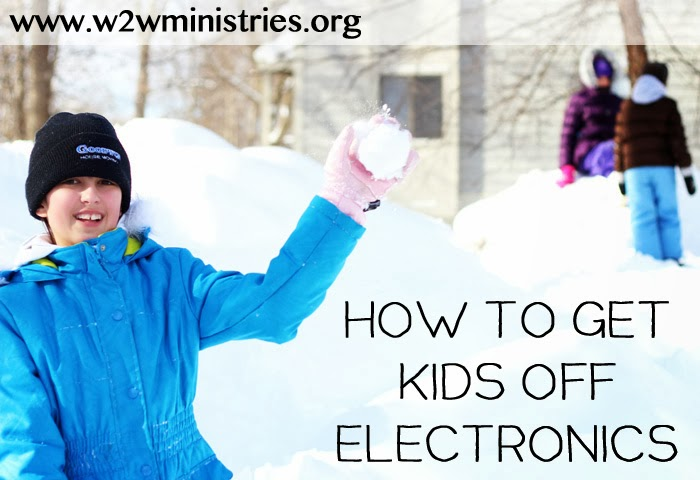 How to get kids off Electronics #parenting #family