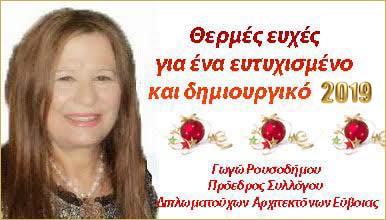Ευχές από τη Γωγώ Ρουσοδήμου