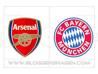 Prediksi Pertandingan Bayern Munchen vs Arsenal