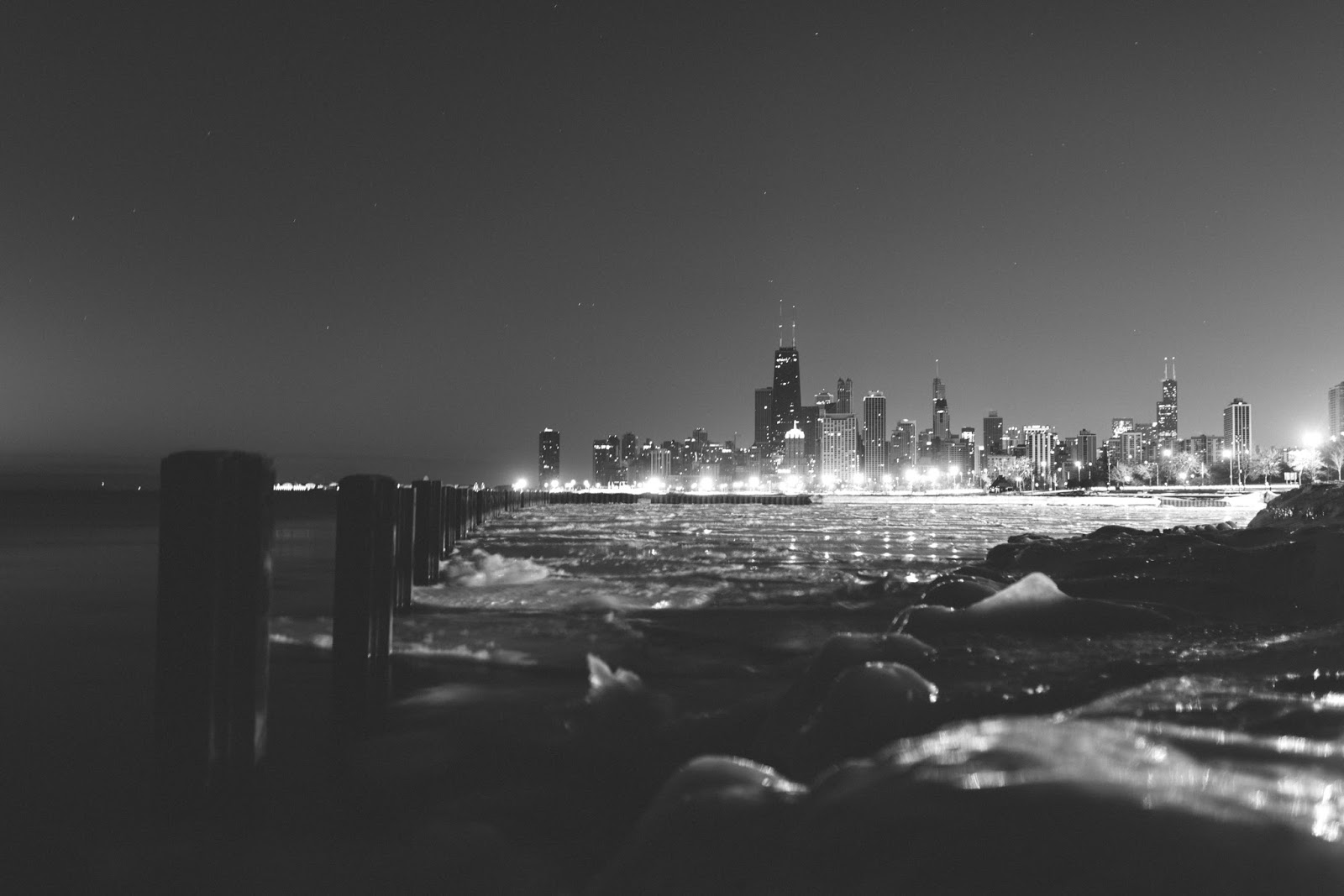 Chicago Black and White Skyline