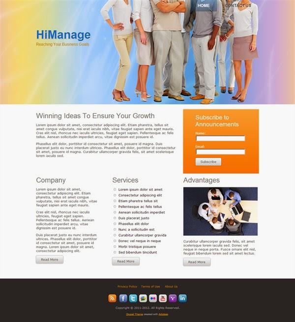 Hi Manage - Free Drupal Theme