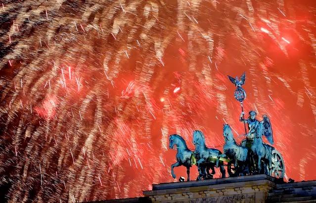 Fuegos Artificiales, año nuevo 2014, Berlín, Alemania