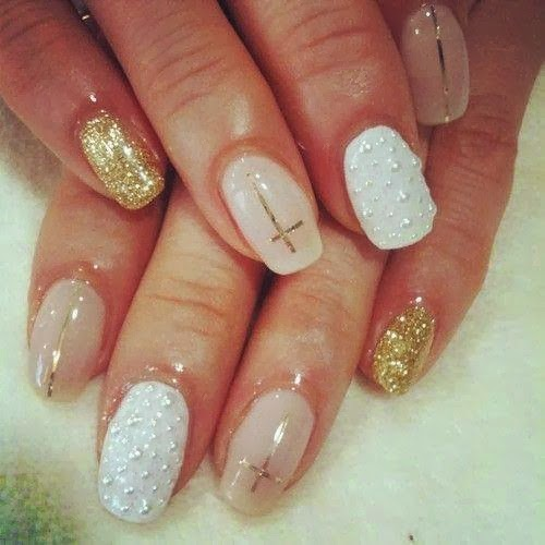 Acrylic back-fill mix and match Manicure gold finger natural nude/pearl Gel-color gold gift ribbon into strips